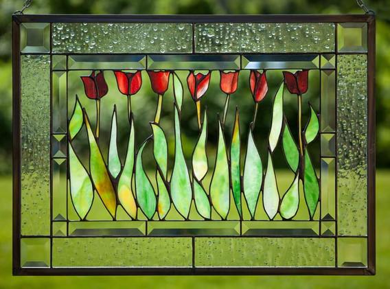Tulips Window Panel
