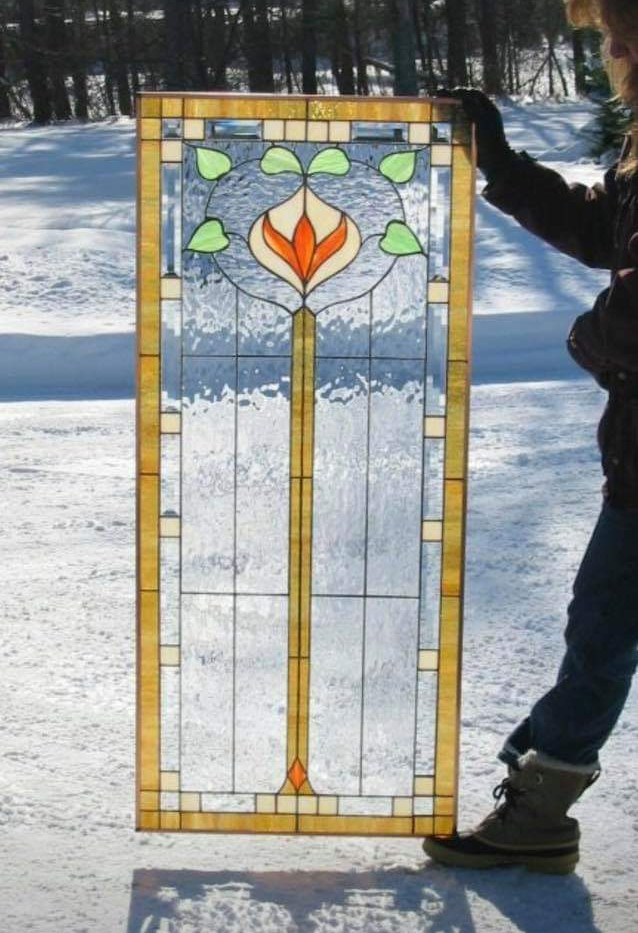 Louis Sullivan Inspired Window Panel