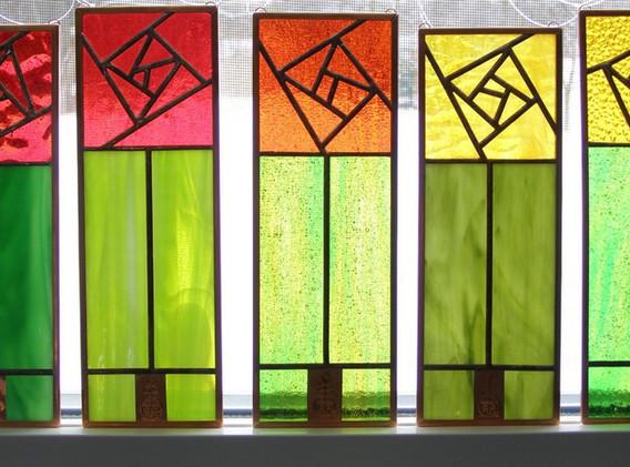 Roycroft Rose Window Panels