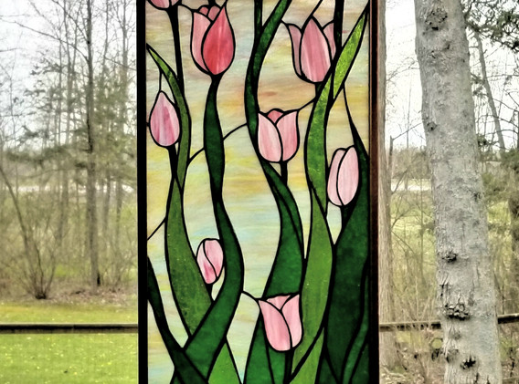 Tulip Design for Vertical Window