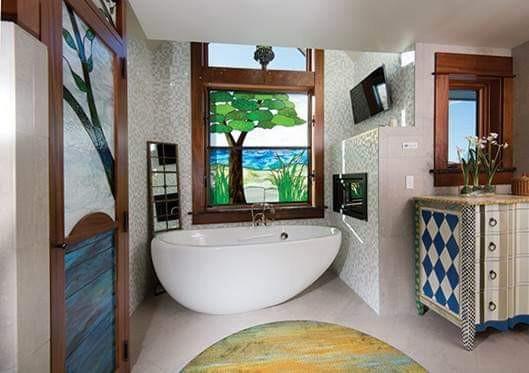Custom Bathroom Coordinated Glass Work