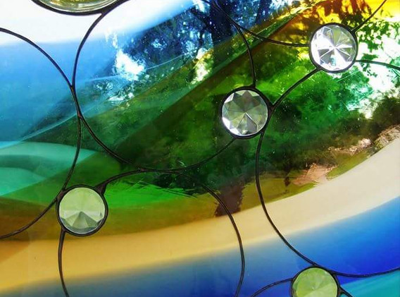 Circle Rainbow Window Panel
