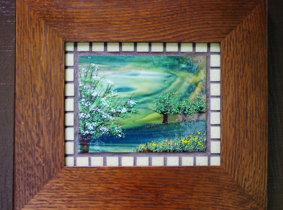 Grouted Countr Scene with Glass Tiles