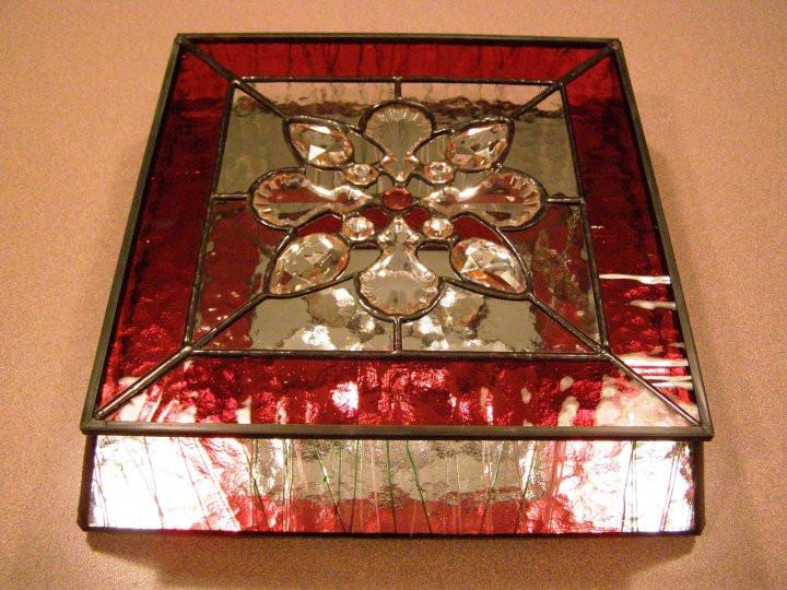 Jeweled Cranberry Box