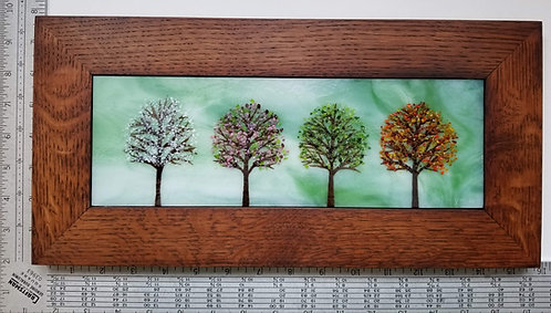 Framed Large Four Season Panel
