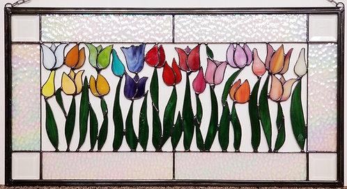 Rainbow Tulip Window
