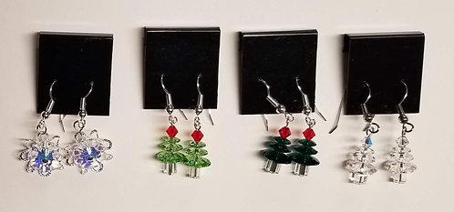 Holiday Swarovski Earrings