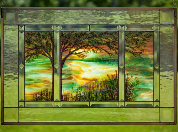 Nature Scene Window Panel