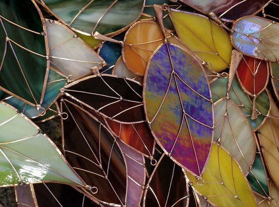Glass and Copper Leaves