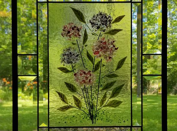 Hydrangea Window Panel