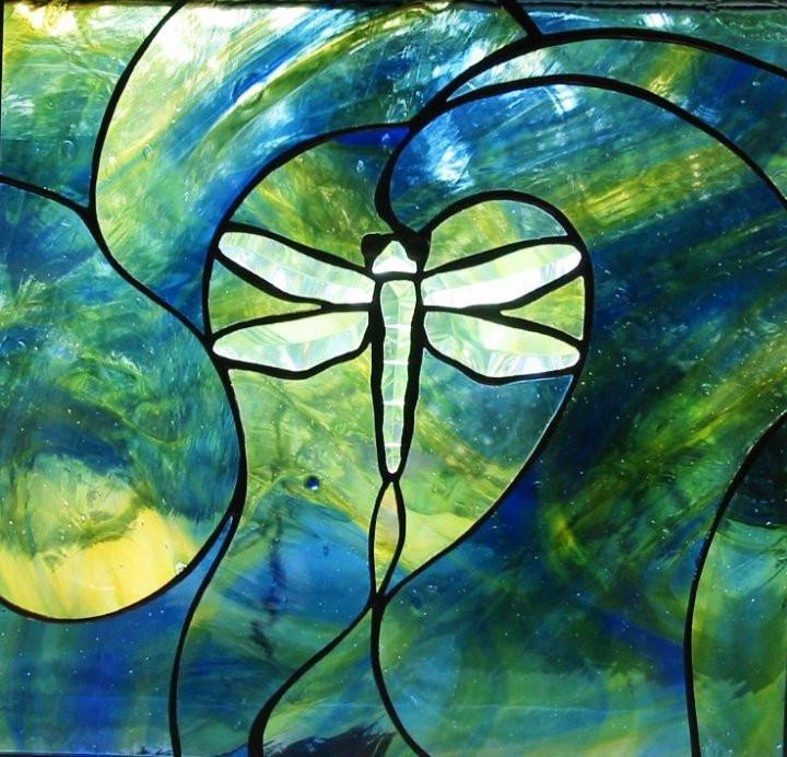 Dragonfly Swirl Window