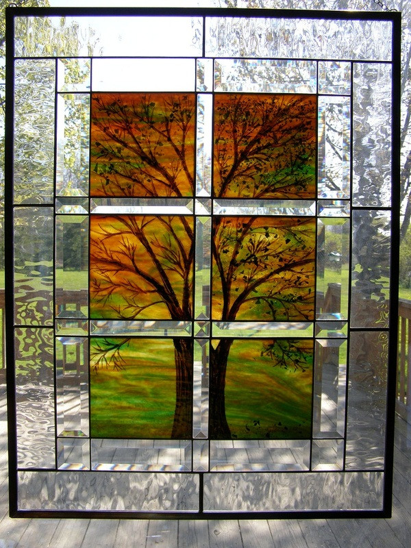Four Seasons Tree Window