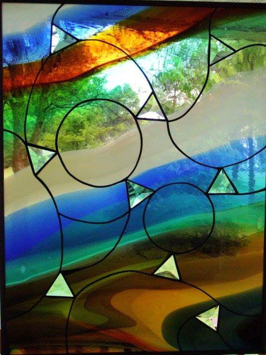 Triangle Rainbow Window Panel