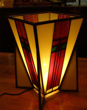 FL Wright Inspired Table Lamp