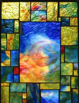 Abstract Squares Window Panel