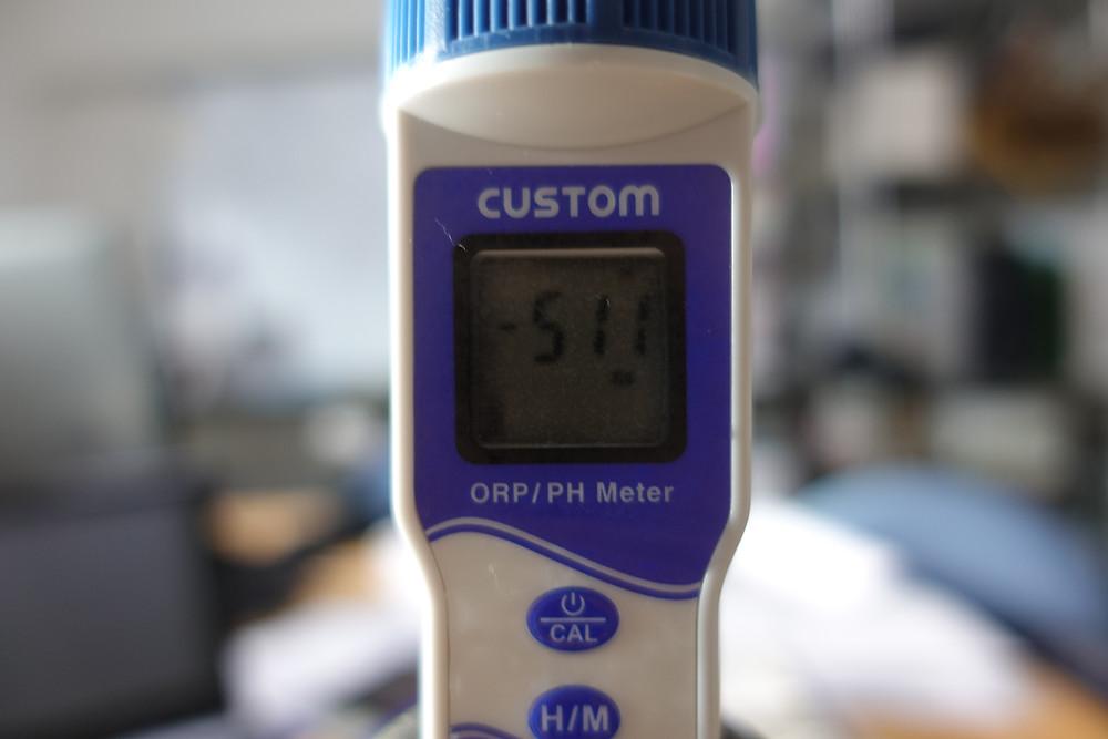 抹茶で作った水素茶は、ORP -511mv を記録しました。