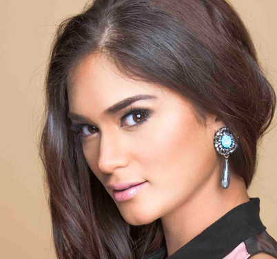 Miss Universe 2015 Pia Wurtzbach wears our Ocean's Sparkle Earrings with Opalite and Labradorite