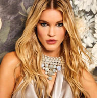 Sports Illustrated and GQ Model Joy Corrigan wears our Mosaic Necklace in White.