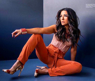 Riverdale CW Actress Marisol Nichols wears our Dusty Rose Disco Cuff Bracelet