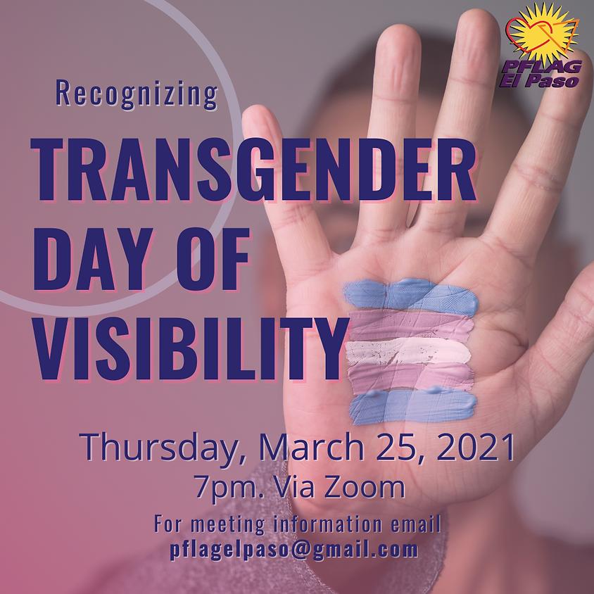 Recognizing Transgender Day Of Visibility