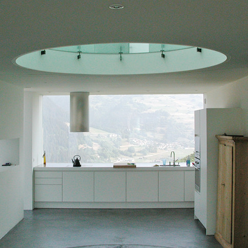 Massivbauweise Kalksandstein-Beton-EPS modernes Bündnerhaus