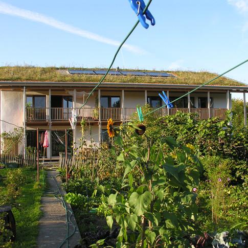 Strohballen-Bauernhof