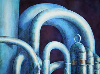 Tuba in Blue