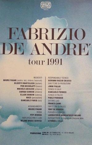 Tour di Fabrizio De Andrè