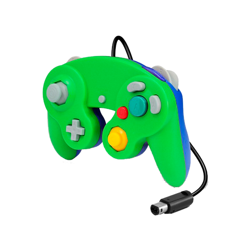Gc Controller - Wired - Green/Blue (For Gamecube/Wii U/Wii)