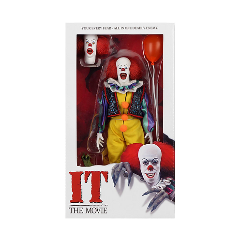"""It (1990 Movie) - Retro Clothed Figures - 8"""" Pennywise"""