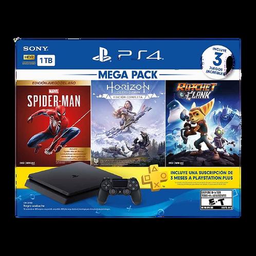 Consola Ps4  1tb mega pack spiderman horizon ratchet