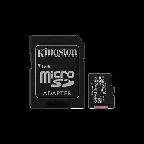 Kingston Micro SD 32 GB Canvas Select PLus 100R + Adaptador