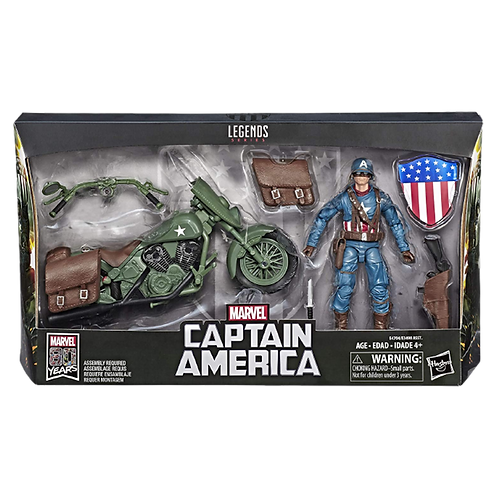 Figura Captain America With Motocycle Marvel 80 Years