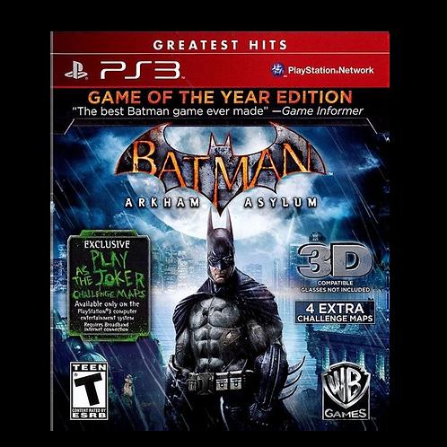 Batman Arkham Asylum Goty Ps3