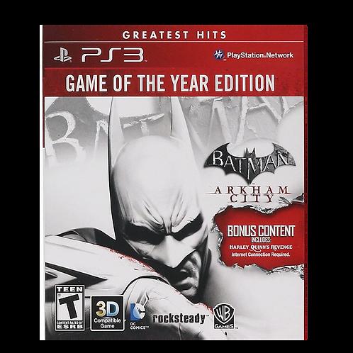 Batman Arkham City Goty Ps3