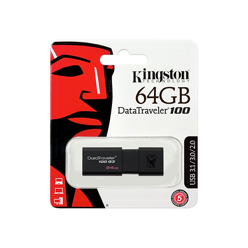 Kingston 64GB USB 3.0 Datatrave 100 G3 Black