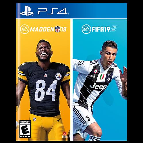 Madden NFL 19 + Fifa 19 Ps4