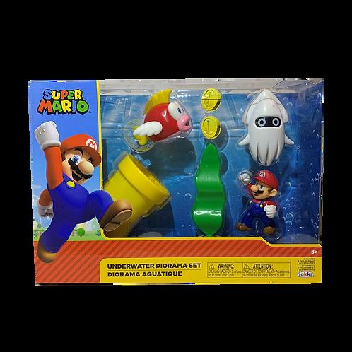 Super Mario Underwater Diorema Set Jakks