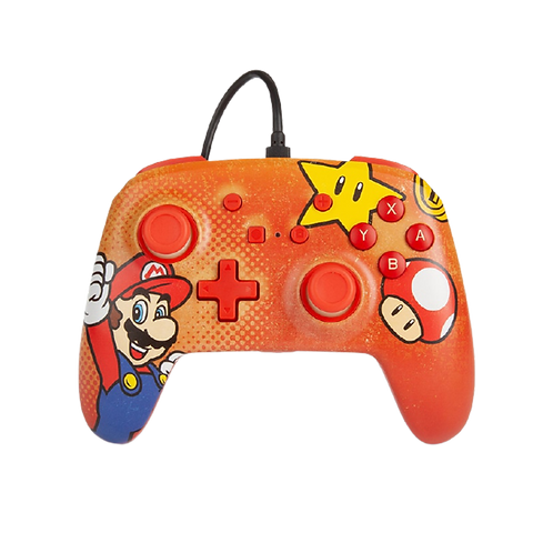 Wired Controller Mario Vintage Switch PowerA
