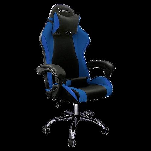Silla Gamer Xzeal XZ05 Azul PVC /165 Grados/Soprte Lumbar/Superior