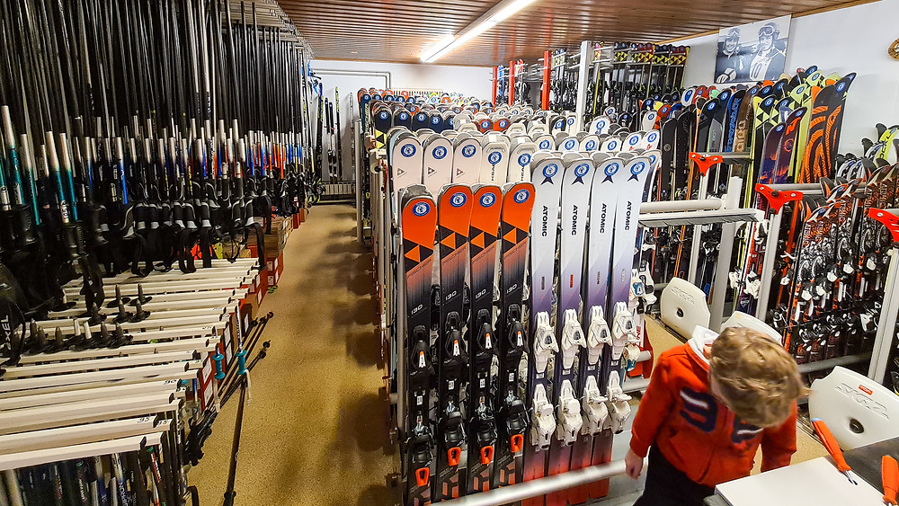 Daetwyler ski rental Villars Gryon - Swiss Blog - The family of 5