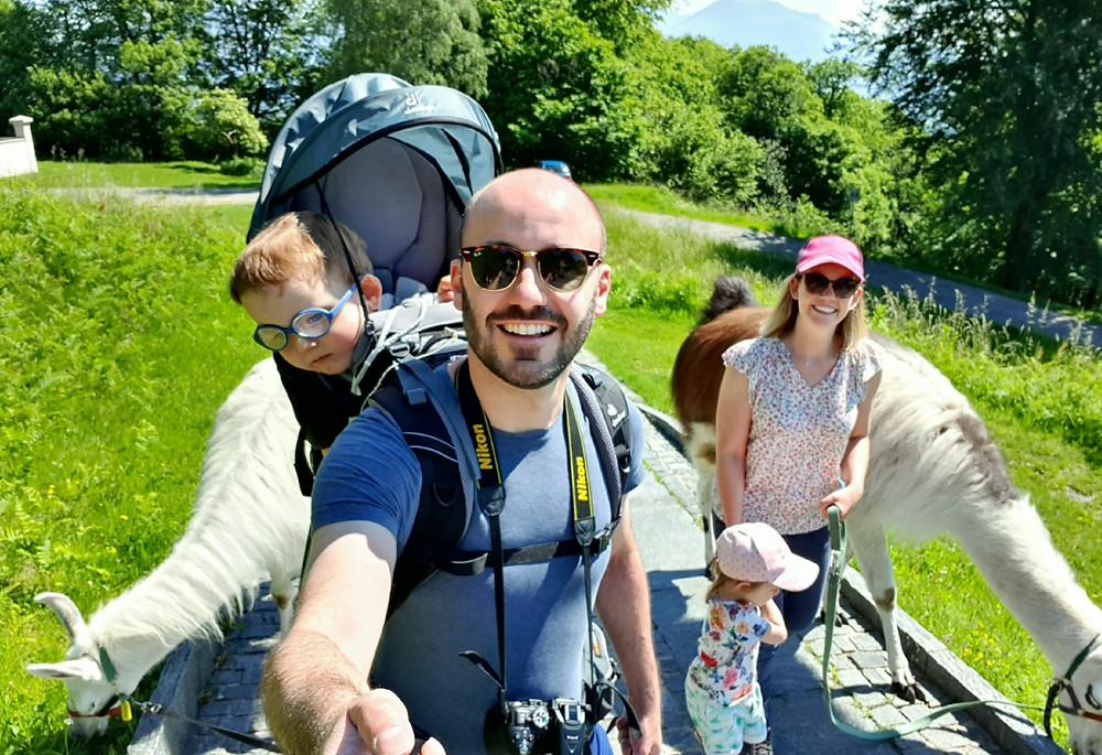 Llama Lama Trekking Lugano - Swiss Family Travel Blog - Weekend in Lugano Ticino - Activities and outings
