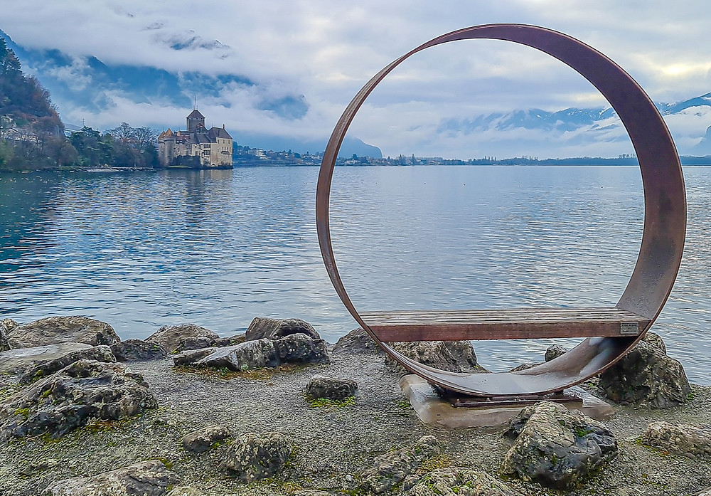 Family walk from Montreux to Chillon Castle