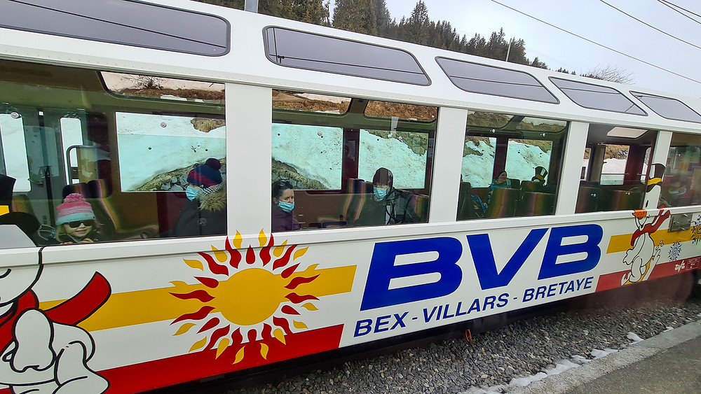 Train Bretaye Villars Gryon - Swiss Blog - The family of 5