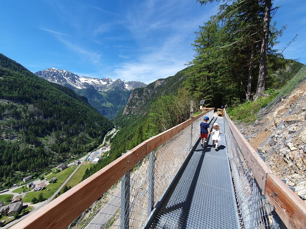 Bisse du Trient - Les Bisses du Valais - Swiss Family Travel Switzerland Family of 5