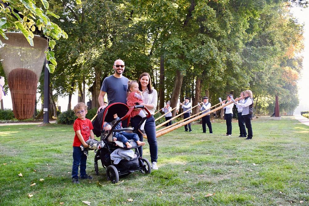The Family of 5 - Les Jardins du Château de Vullierens - Jardins des Iris (VD)