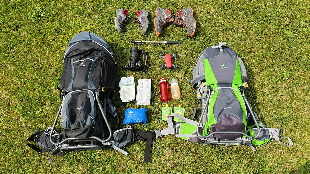 11 Essentials in our backpack for family hiking in Switzerland