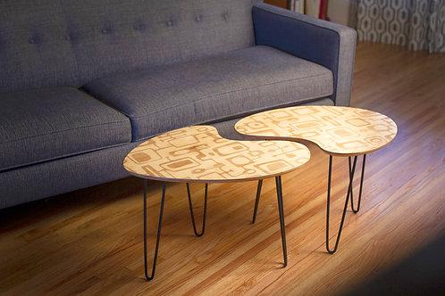 Boomerang Kidney Coffee Table Pair