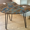 Thumbnail: Mid Century Modern Brown Googie Kidney Cocktail Side Accent Table