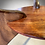 Thumbnail: Round Glass Walnut Mid Century Modern Side Coffee Table Base